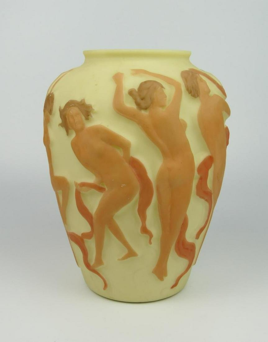 """CONSOLIDATED PHOENIX VASE"""" DANCING NYMPHS"""""""