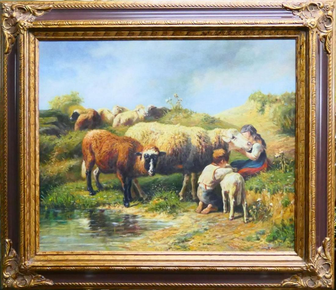 """SCOTT MOORE (USA B1953) OIL """"SHEPHERD'S CHILDREN"""""""