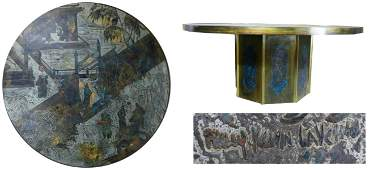 """PHILIP & KELVIN LAVERNE ETCHED """"CHAN"""" COFFEE TABLE"""