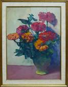 JANE PETERSON FLORAL WATERCOLOR AM 18761965