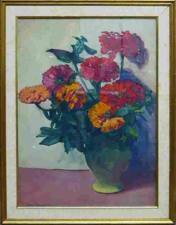 JANE PETERSON FLORAL WATERCOLOR (AM) 1876-1965