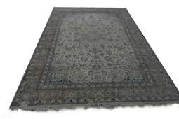 PERSIAN HAND WOVEN WOOL TAN FLORAL RUG 12.8' X 9'