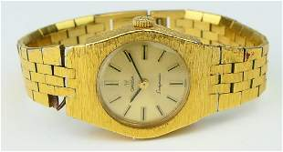 OMEGA 14KT Y BRUSHED GOLD LADYMATIC WATCH