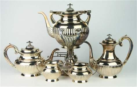 RUSSIAN ANTIQUE 84 SILVER 6 PIECE TEA SET RARE