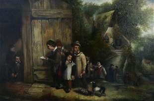 CHARLES HUNT ENGLISH 18031877 OIL CANVAS