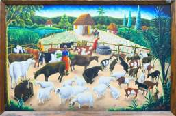 ANDRE NORMIL 1934-2014 HAITIAN ART OIL PAINTING