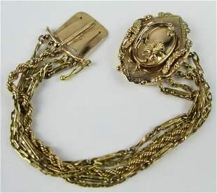 VINTAGE 14KT YELLOW GOLD HEAVY BRACELET
