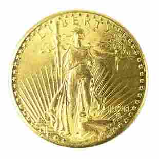 1928 ST GAUDENS DOUBLE EAGLE $20 GOLD COIN
