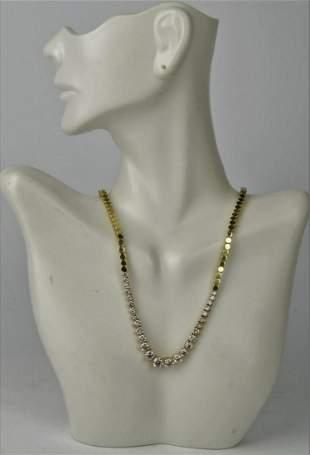 IMPORTANT 27 DIAMOND LADIES GOLD EVENING NECKLACE