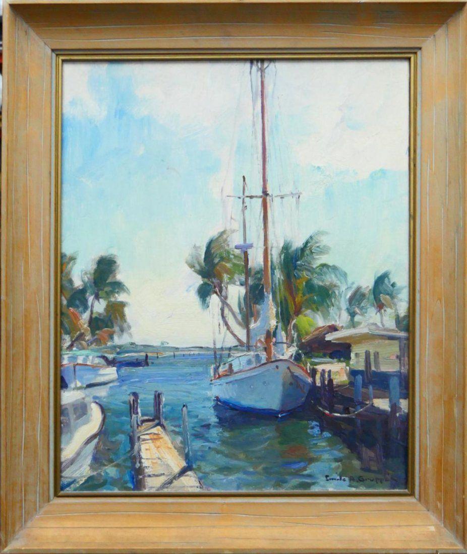 EMILE GRUPPE FLORIDA SCENIC PAINTING 1896-1978