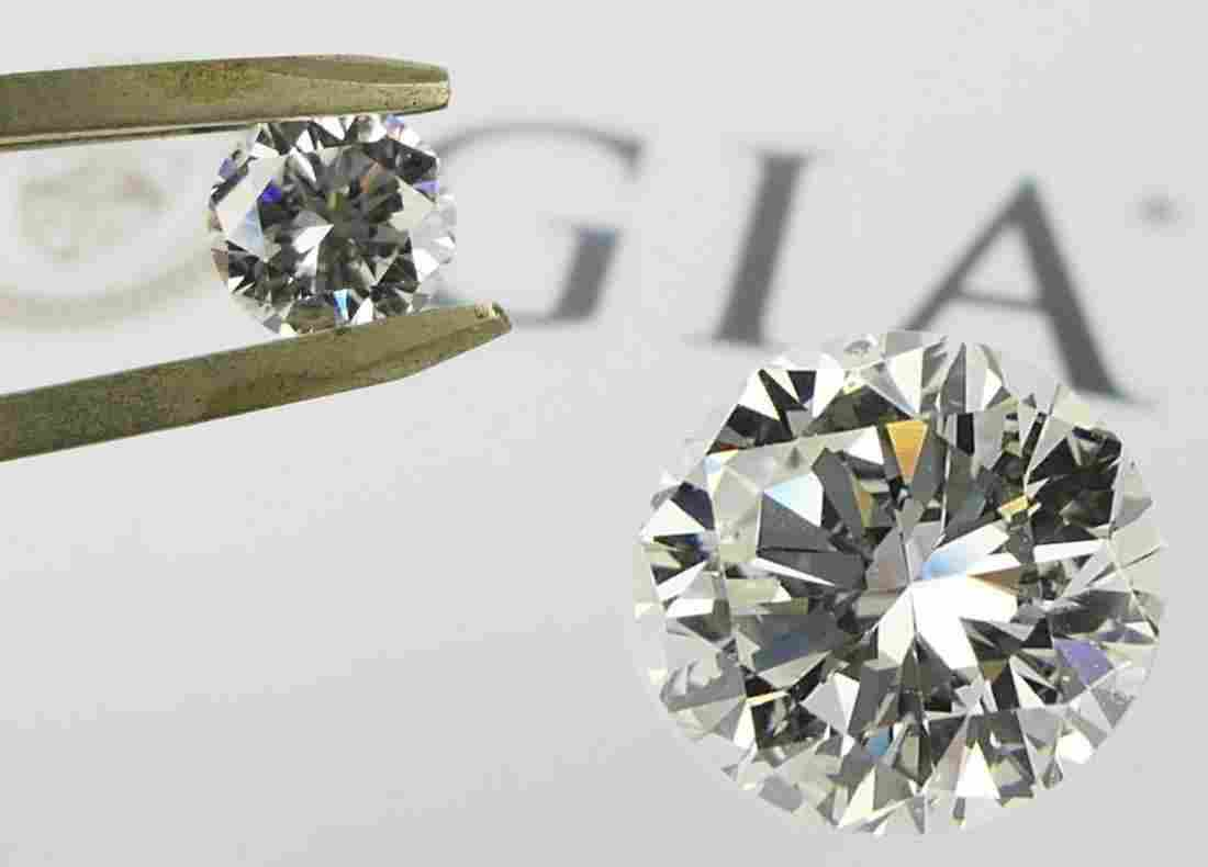 GIA CERTIFIED 2.02 CT ROUND BRILLIANT DIAMOND SI1
