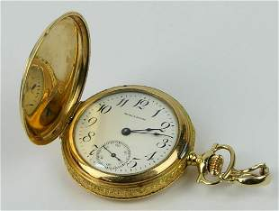 ANTIQUE WALTHAM 14KT Y GOLD POCKET WATCH
