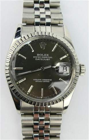 ROLEX GENT'S STAINLESS STEEL OYSTER DATEJUST WATCH