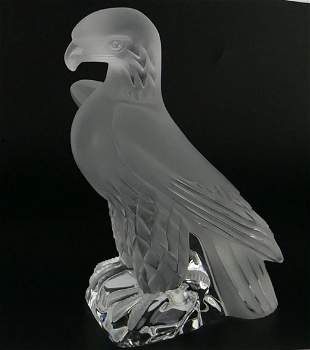 LALIQUE STANDING LIBERTY EAGLE - SIGNED