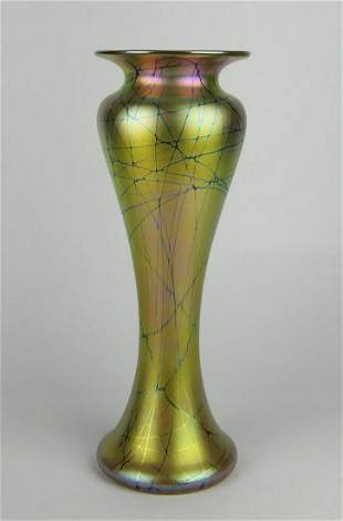 LUNBERG STUDIO VINE VASE MANNER OF TIFFANY