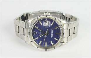 MENS ROLEX OYSTER PERPETUAL DATE WATCH
