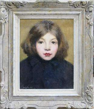 """CARL NORDELL """"YOUNG GIRL"""" OIL / CANVAS (1885-1955"""