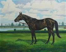 CHARLES MANLEY TYLER EQUESTRIAN OIL ON CANVAS