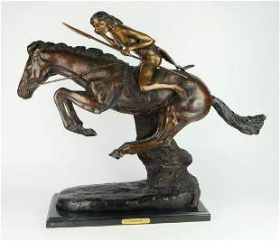 AFTER FREDERICK REMINGTON STATUE OF THE CHEYANNE