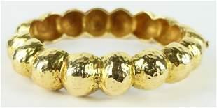 HEAVY ESTATE 14KT YELLOW GOLD BRACELET