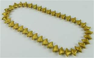 VINTAGE ZOLOTAS GREEK 18KT YELLOW GOLD NECKLACE