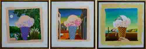 PAUL GIOVANOPOULOS (USA b1939) ICE CREAM TRIPTYCH