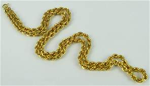 """14KT YELLOW GOLD 22"""" LINK GOLD NECKLACE"""