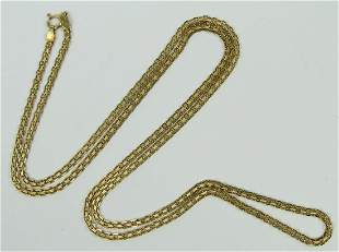"14KT YELLOW GOLD 24"" LONG NECKLACE CHAIN"