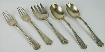 """TIFFANY ANTIQUE STERLING """"WINTHROP' SERVING PIECES"""
