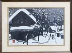 KIYOSHI SAITO WOODBLOCK PRINT,