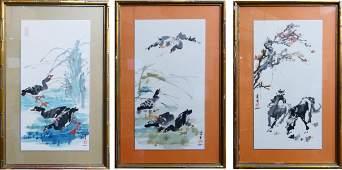 SET  3 HUI -CHI MAU (CHINESE, B. 1922) LITHOGRAPHS