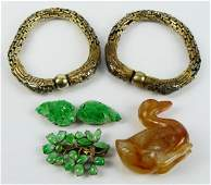 CHINESE LOT OF OBJECT'S D'ART INCLUDING JADE