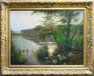 LOUIS ASTON KNIGHT (FRENCH) 1873-1948 OIL/CANVAS
