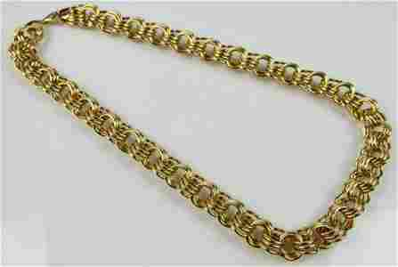 LOVELY 14KT YELLOW GOLD LINK NECKLACE