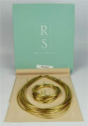 ROSS SIMMONS ITALIAN 14KT YELLOW GOLD SUITE