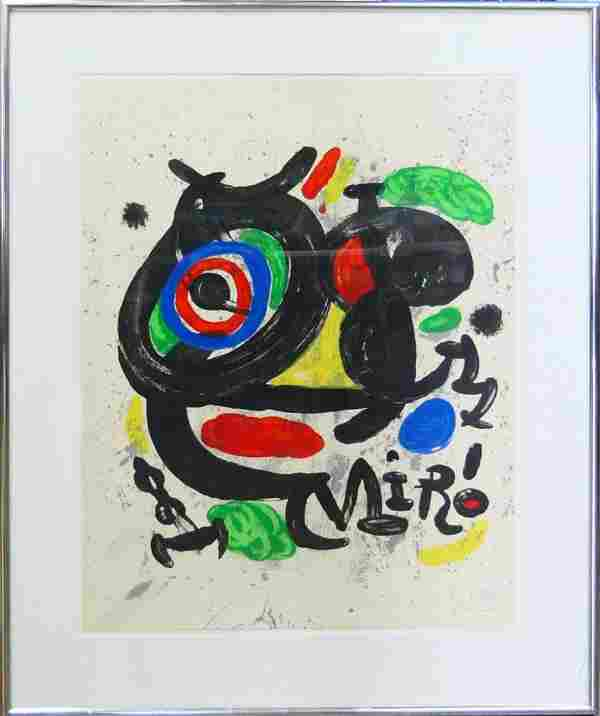 LARGE JOAN MIRO LIMITED EDITION SIGNED LITHOGRAPH