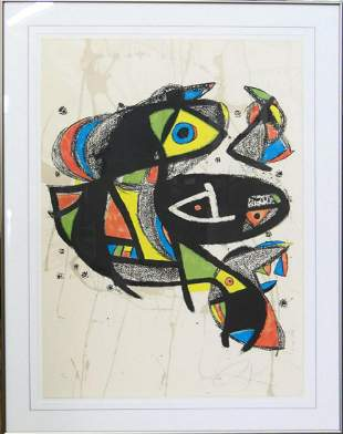 JOAN MIRO VERY LIMITED EDITION LITHOGRAPH SIGNED
