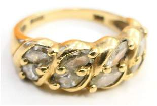 14 KT Y.GOLD & 1 1/2 CT LADIES BAND