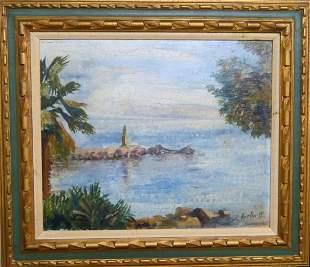 19TH CENTURY O/BOARD SEASCAPE SIGNED GORTON