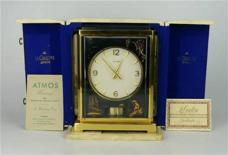 JAEGER LE COULTRE ATMOS MARINA CLOCK IN BOX