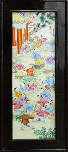 CHINESE VINTAGE HAND PAINTED PORCELAIN PLAQUE