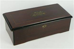 ANTIQUE CYLINDER MUSIC BOX 12 SONG