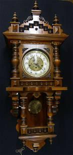ANTIQUE SCHLENKER & KIENZLE GERMAN WALL CLOCK