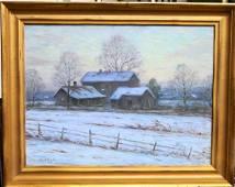 ELIOT CLARK (AMERICAN 1893-1980) COTTAGE IN WINTER