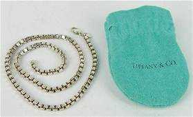 """TIFFANY & CO STERLING SILVER 17.5"""" LINK CHAIN"""