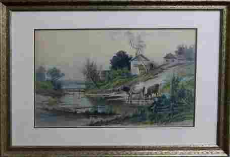 CARL PHILIPP WEBER (1850-1921) WATERCOLOR / GOUACH