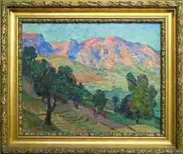 EGIDIO TONTI (ITALIAN, 1887-1922) OIL ON CANVAS
