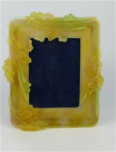 DAUM PATE DE VERRE ART GLASS PICTURE FRAME