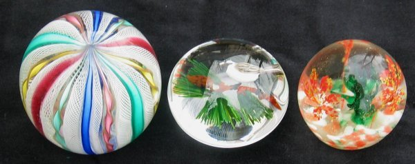 9X: Three Glass Paperweights