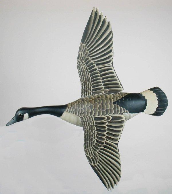1061: Wall Mount Canada Goose Flyer. James Lapham